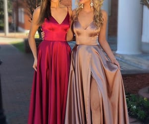 beautiful, best friends, and dresses image