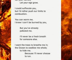 air, fire, and poem image