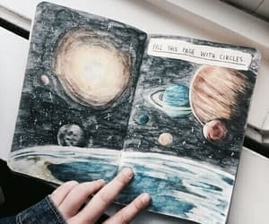 art, planet, and book image