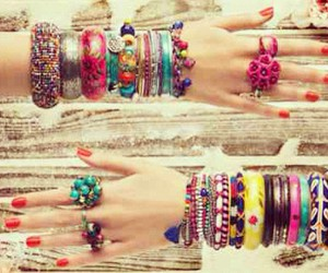 bracelet, accessories, and rings image