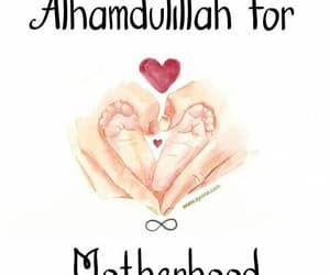 islamic, motherhood, and alhamdulillah image