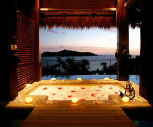 luxury, romantic, and bath image
