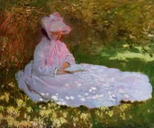 claude monet and the reader image