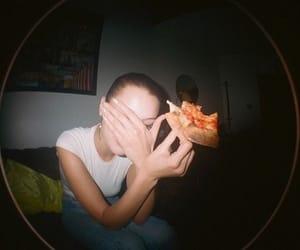 bella hadid, fashion, and pizza image