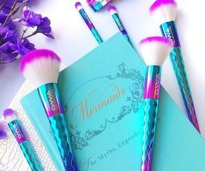 Brushes, blue, and make up image