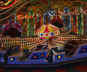 county fair, lights, and fun image