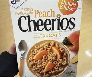 cereal, peach, and cheerios image