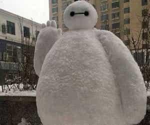 baymax, disney, and snow image