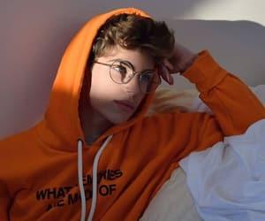 boy, orange, and glasses image