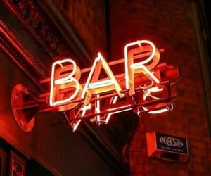 bar, neon, and orange image