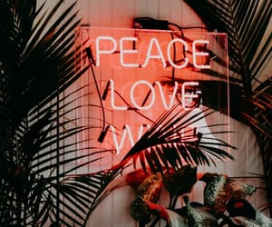 peace, love, and color image
