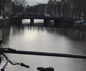 amsterdam, river, and trees image
