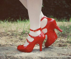 red, Melissa, and shoes image