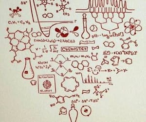 chemistry, heart, and science image