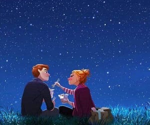 couple, stars, and love image