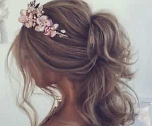 flowers, hair inspo, and gorgeous image