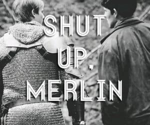 merlin, arthur, and shut up image