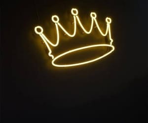 crown, neon, and light image