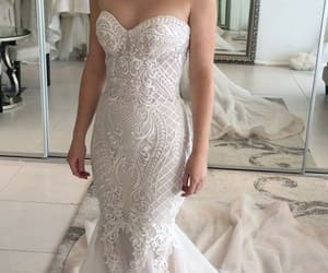 bridal, gown, and wedding image