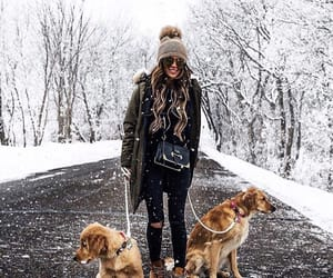 dogs, girl, and model image