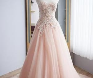 blush, evening dress, and formal occasion dress image