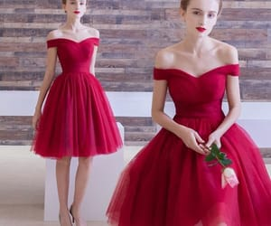party dress, short dress, and red dress image