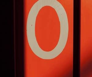 orange, numbers, and zero image