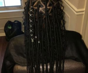 beautiful, black, and dreads image