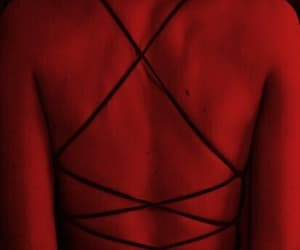 red, back, and dress image