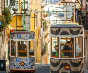 city, lisbon, and portugal image