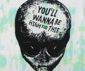 alien, high, and gif image