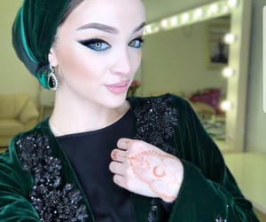 beauty, makeup, and chechen image