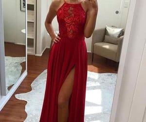 fashion, prom dress, and slit dress image