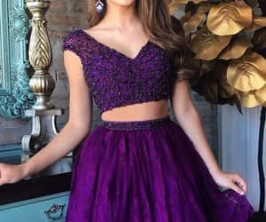 fashion, giel, and 2 pieces dress image