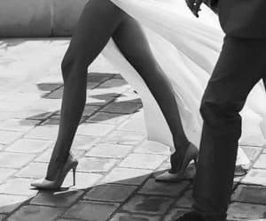 couple, dress, and heels image