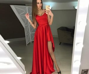 sleeveless prom dresses, a-line prom dresses, and prom dresses red image