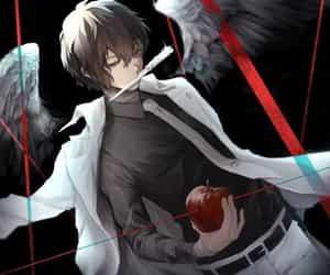 anime, apple, and cool image