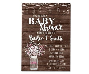 etsy, shower invitation, and neutral baby shower image