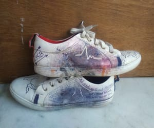 art, painting, and shoe's image