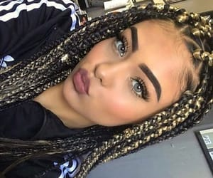 adidas, braids, and girl image