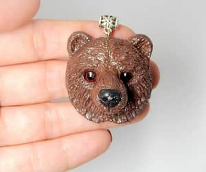 brown bear, men jewelry, and etsy image