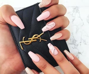 luxury, pink nails, and Yves Saint Laurent image