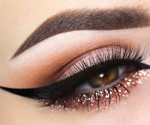 beauty, eye, and eyebrows image