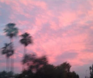 pink, sky, and grunge image