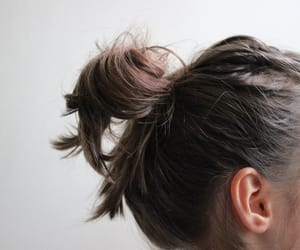 aesthetic, bun, and girl image