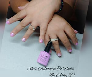 dots, manicure, and short nails image