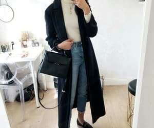 coat, fashion, and knitwear image