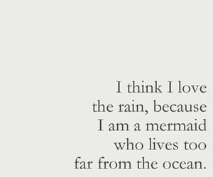 quotes, mermaid, and rain image