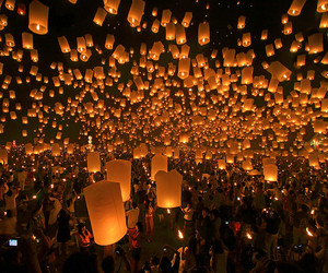 festival, thailand, and light image