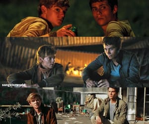 thomas sangster, the maze runner, and dylan o´brien image